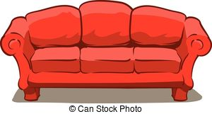 Sofa clipart Couch 086 art Clipart Couch