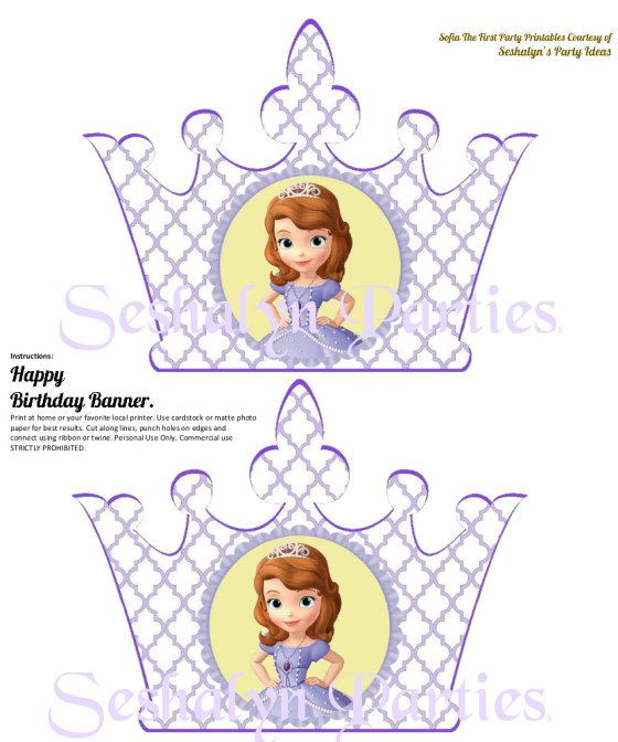 Sofia clipart happy birthday · First Party Party The