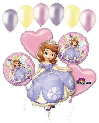 Sofia clipart happy birthday Bouquet Princess balloons First Disney