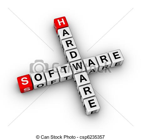Software clipart computer hardware And computer  Stock computer