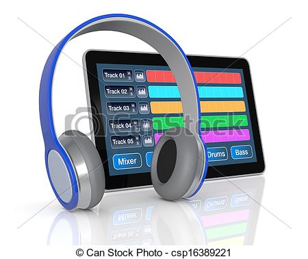 Software clipart computer help Digital music software tablet pc