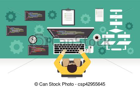 Software clipart computer programming Mechanism working development development working
