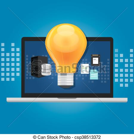 Software clipart computer room Knowledge knowledge Vectors of system