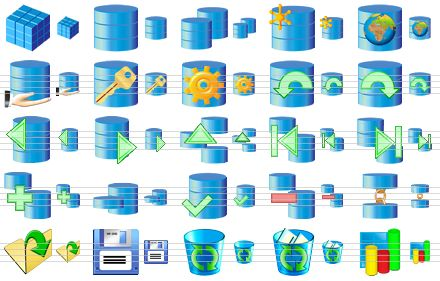 Software clipart record data Database up Pack database new