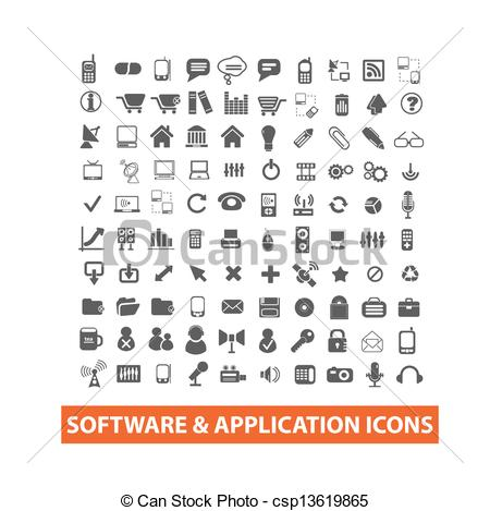 Software clipart vector  application icons vector application