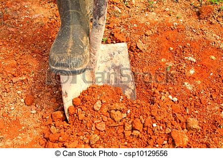 Soil clipart clay soil Digging digging red Stock soil