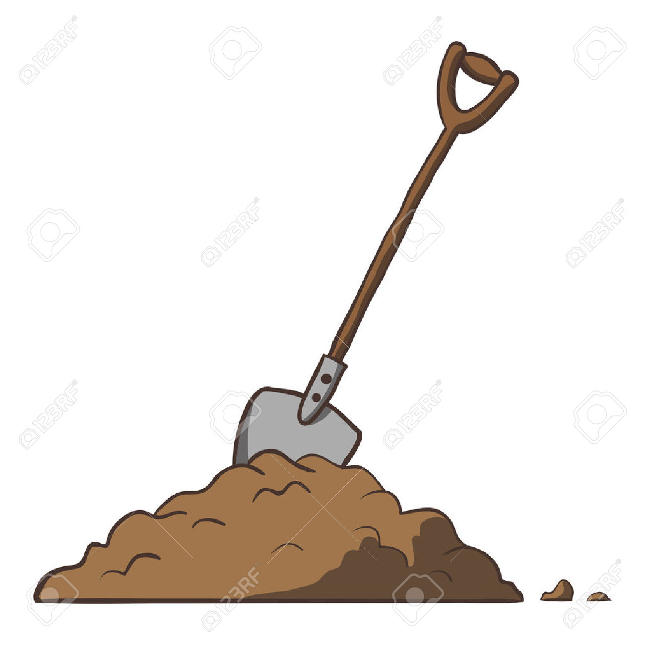 Mud clipart dirt pile #1