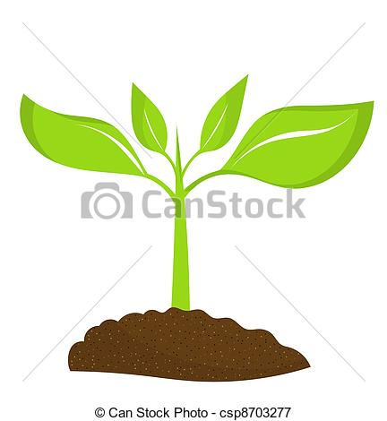 Soil clipart plant Young plant of Vectors in