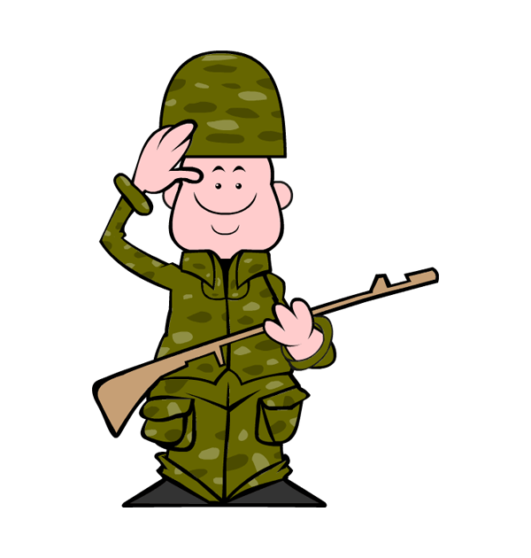 Soldier clipart scared Cliparting soldier Clipart soldier com