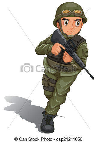 Soldier clipart comic person 189 soldier Clipart Clipart Vector
