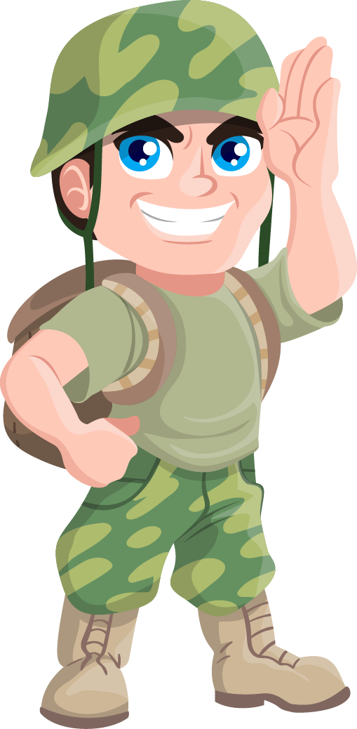 Soldier clipart scared Cliparts free Soldier com silhouette