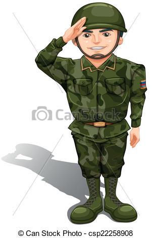 Military clipart soilder Soldier doing Vector doing salute