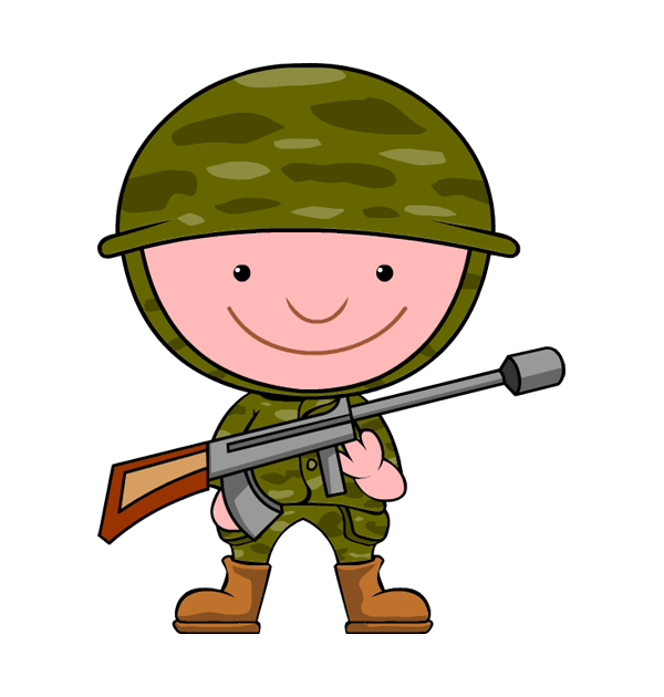Soldier clipart comic person Clipart Free Clip Panda Soldier