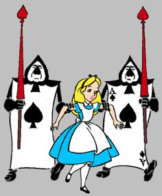 Soldiers clipart alice in wonderland Piece in SOLDIERS 1951 CARD