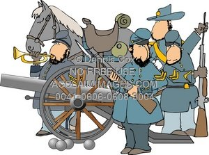Soldiers clipart american civil war American Soldiers Illustration: War American
