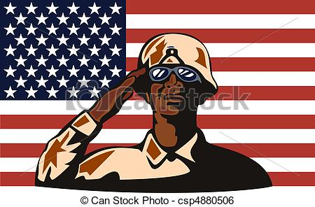Soldiers clipart american soldier Csp4880506 saluting American soldier American