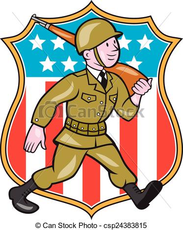 Soldier clipart american soldier Vector World Art Two World