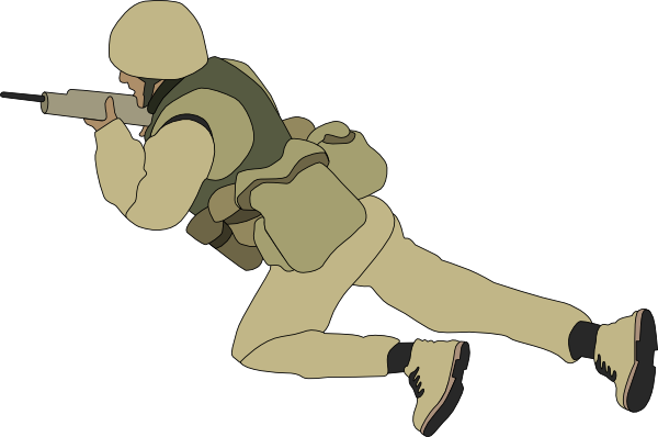 Soldiers clipart animated Clker online Soldier Crawling at