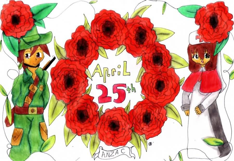 Soldiers clipart anzac day Anzac 25th Pictures Anzac April