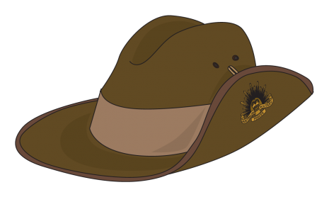 Soldiers clipart anzac day Hat day Pinterest anzac hat