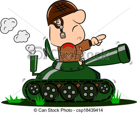 Soldier clipart army commander Of Army in Tank