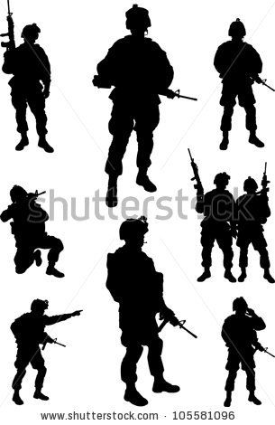 Soldiers clipart army commander Collection Army silhouette 20+ Best