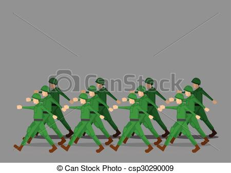 Soldiers clipart army marching Marching Soldiers csp30290009 Military Soldiers