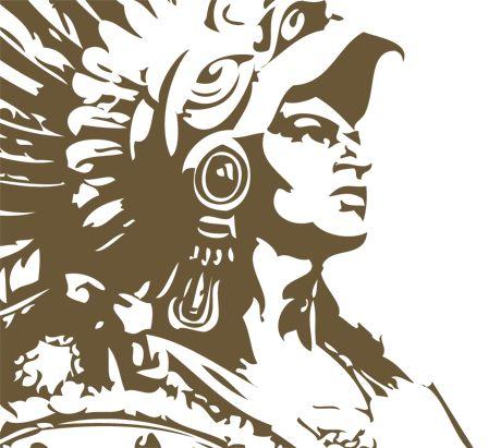 Aztec clipart head #2