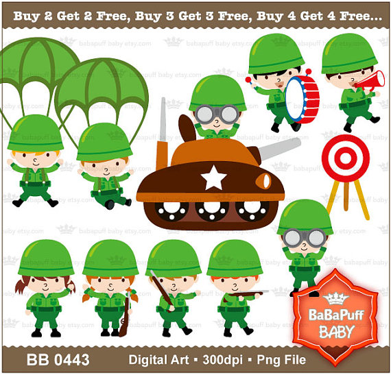 Soldier clipart baby Art Personal Get 2 Free