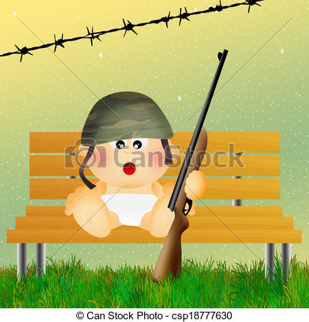Soldier clipart army commander Of  illustration of baby