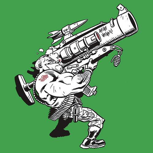 Soldiers clipart badass Badass Bazooka Bazooka Shirtoid Badass