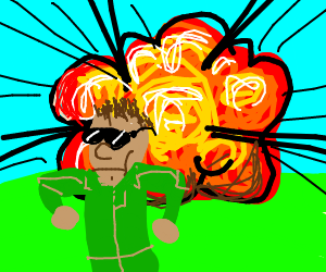 Soldiers clipart badass Soldier walking explosion soldier from