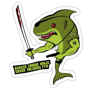 Soldiers clipart badass Soldier Badass Shark Information Stickers