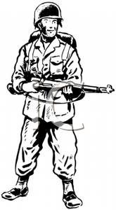 Soldiers clipart black and white Download  Art Art Cliparts