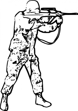 Soldiers clipart black and white White Panda Images Black Free