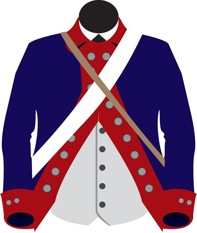 Soldiers clipart blue coat Of went The New uniforms