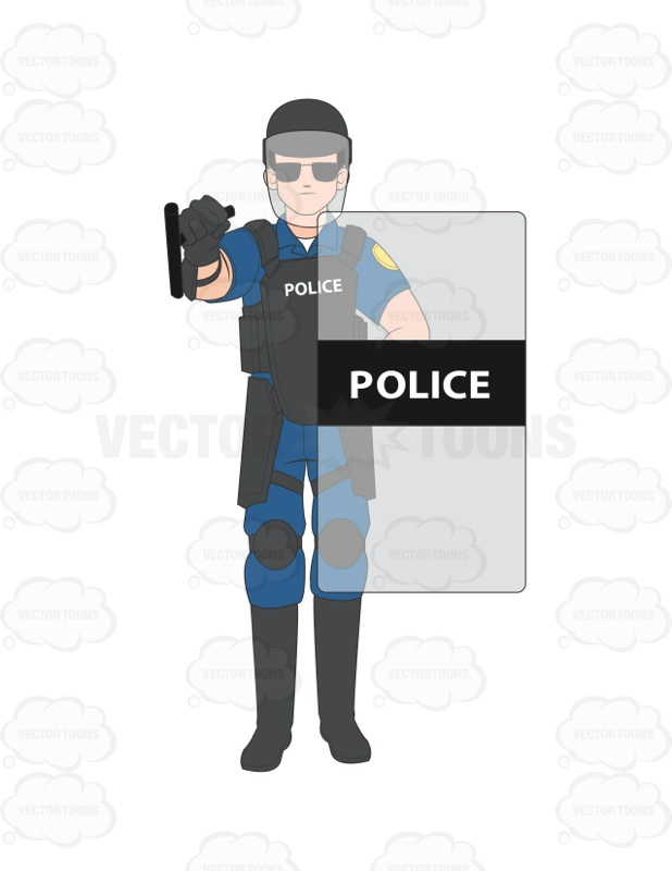 Soldiers clipart blue coat Officer His Male Standing On