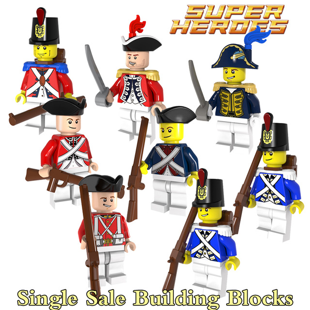 Soldiers clipart blue coat Blocks Building Aliexpress Imperial Redcoat
