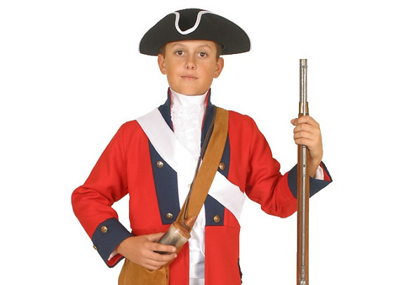 Soldiers clipart blue coat Revolutionary Boys Costume British Coat