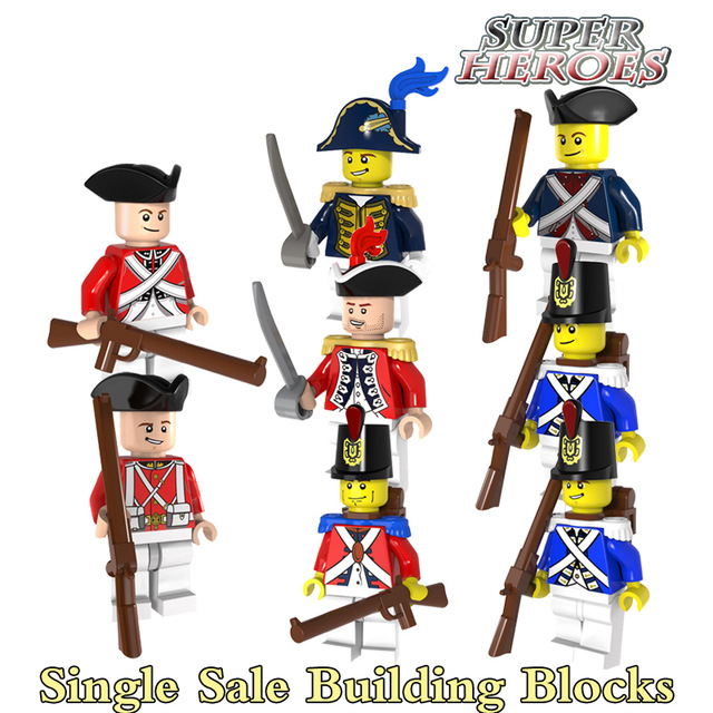Soldiers clipart blue coat Imperial Blocks Building Aliexpress Building