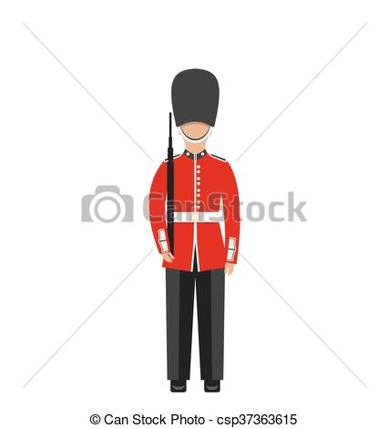 Soldier clipart britain Troop Uniform with Weapon of