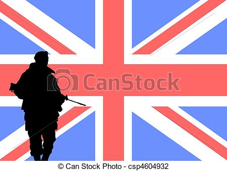 Soldier clipart britain Illustrations of a British British