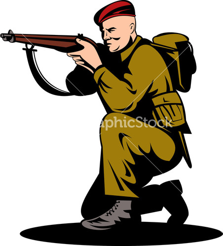Soldier clipart british person Soldier British Rifle Two Image