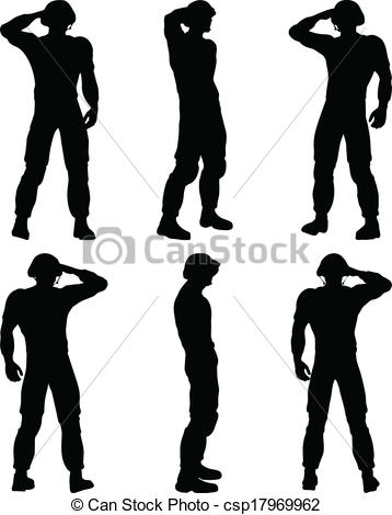 Soldier clipart captain Of Vector Soldier Clip saluting