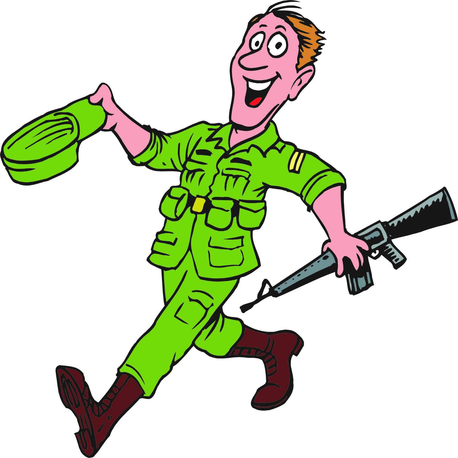 Soldier clipart cartoon Pages Download Cartoon Boys Free