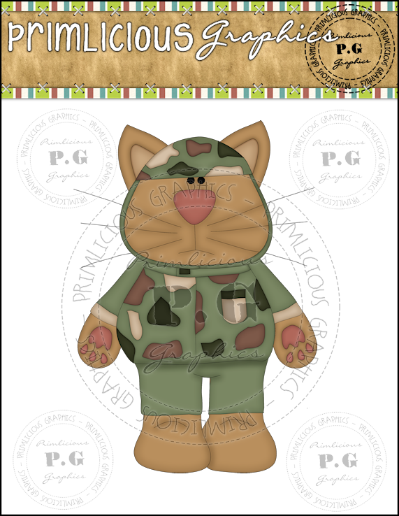 Soldiers clipart cat  Primlicious Single ClipArt Cat