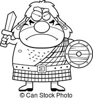 Celtic Warriors clipart highlander Warrior Angry A  Cartoon