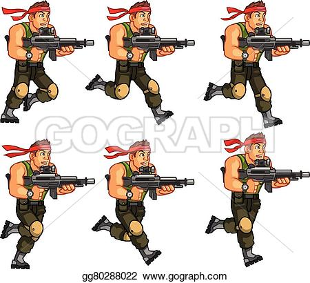 Soldier clipart commando  game cartoon Art EPS