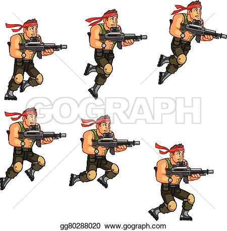 Soldier clipart commando Free Cartoon Game Royalty Art
