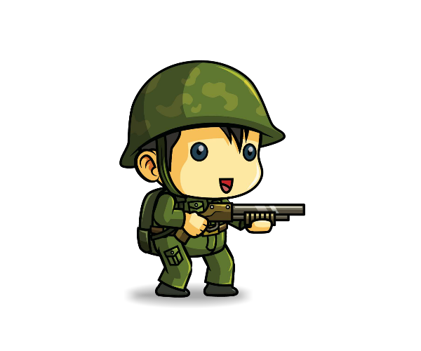 Soldier clipart cute Soldier 1 Royalty Art Free